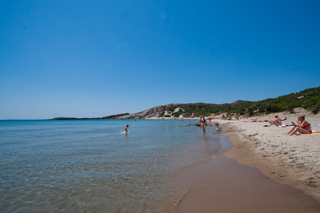 paradise beach kos piaszczysta plaża