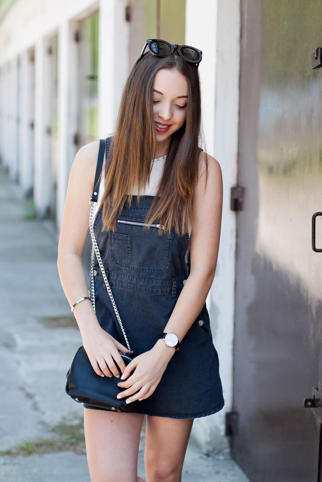 3226f568 Jeansowa sukienka ogrodniczka Motel Rocks