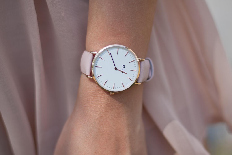 cluse zegarek różowy