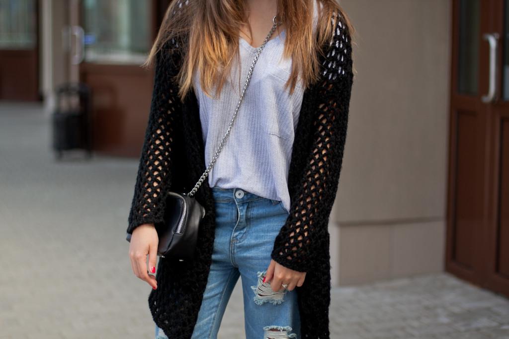 codzienna stylizacja boyfriendy jeansy
