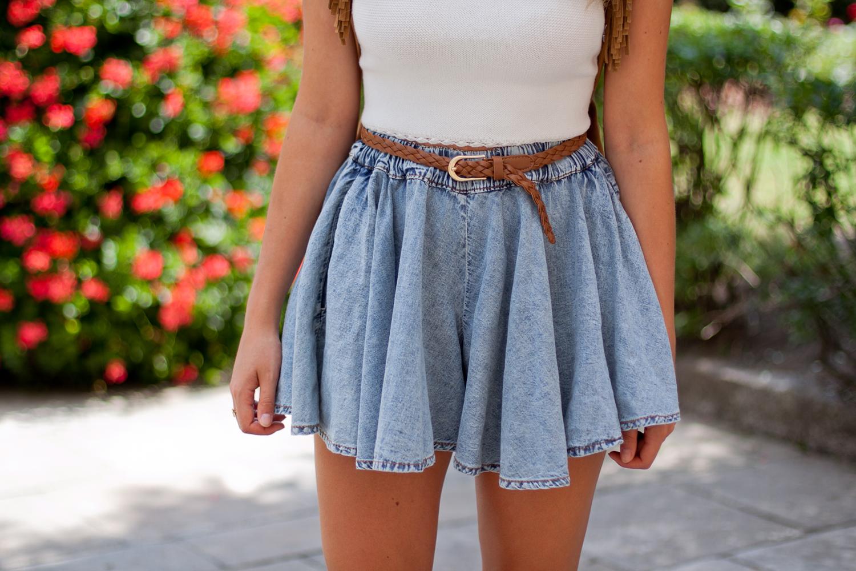 jeansowa spódnica spodenki