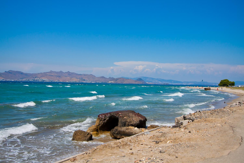 kos piaszczysta plaża