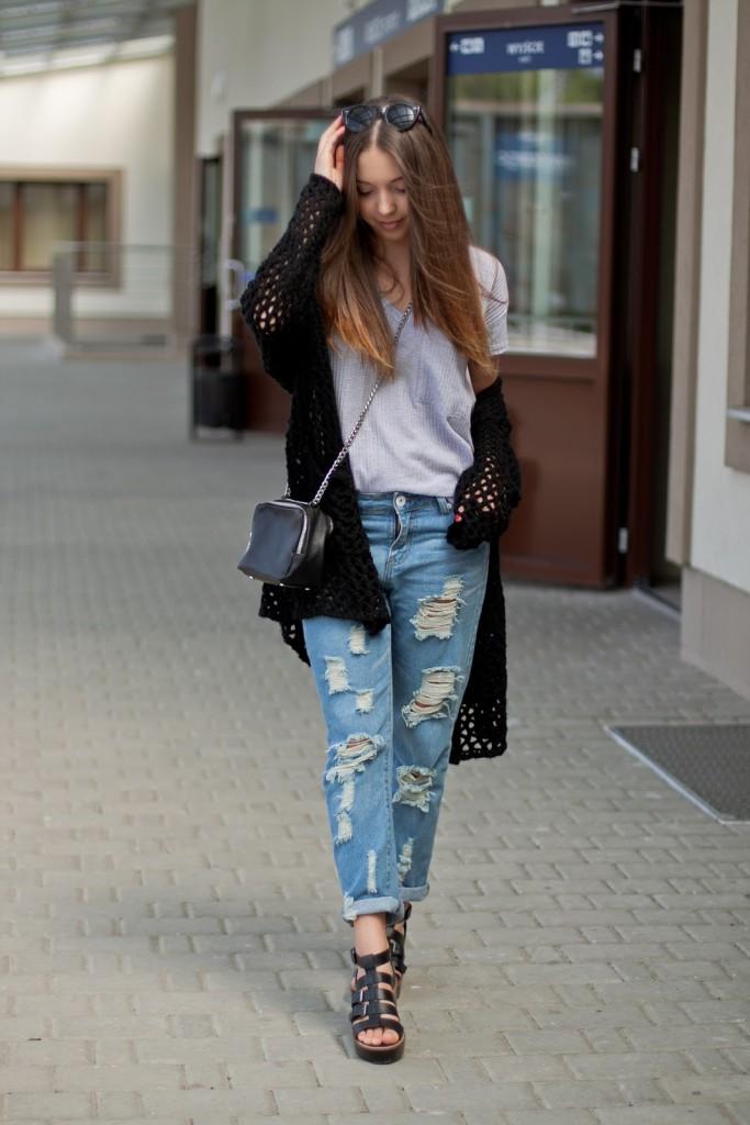 boyfriendy jeansy stylizacja