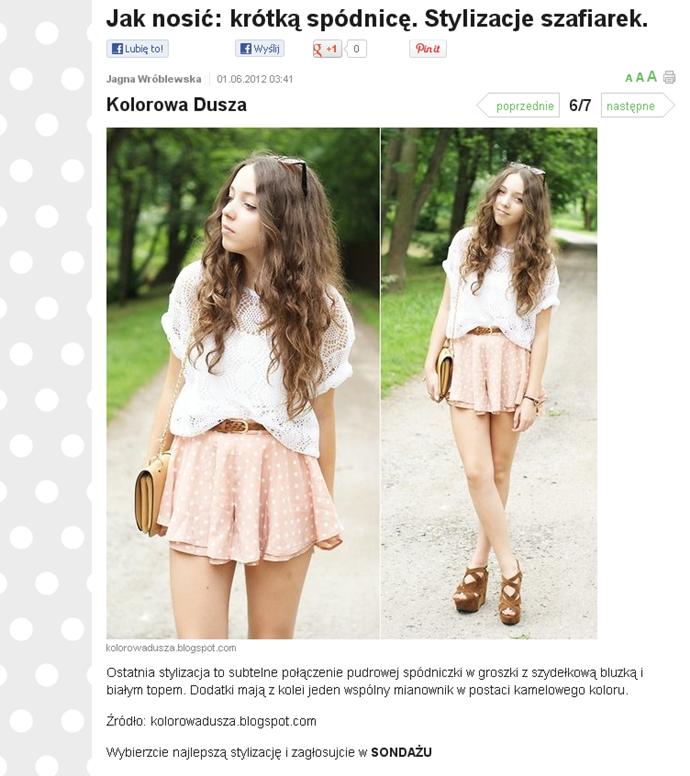 jak nosić krótką spódnicę