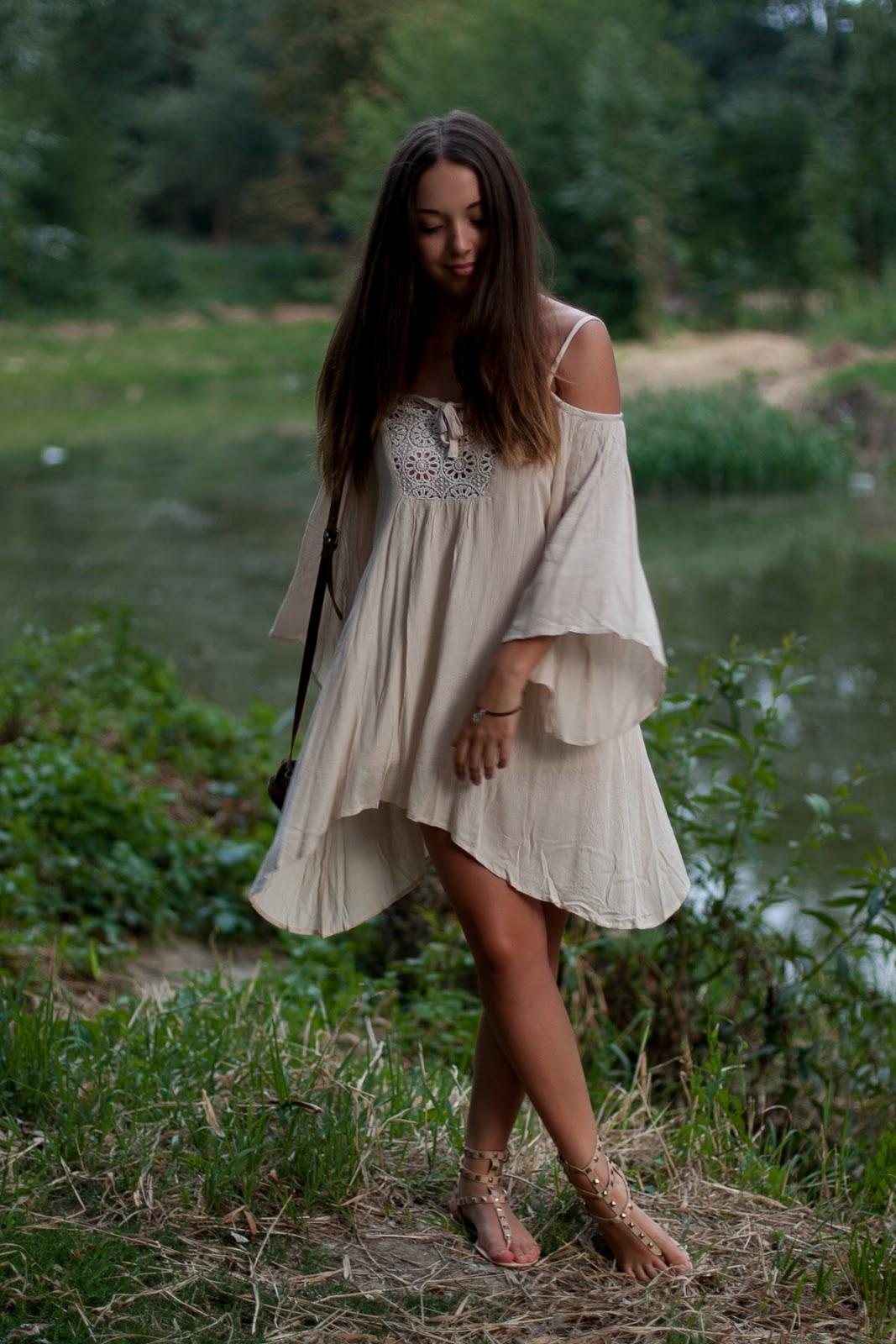 boho hippie sukienka