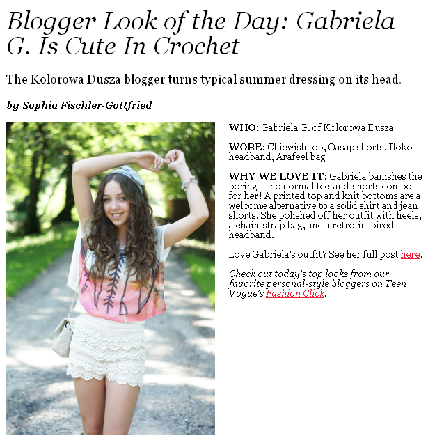 Blogger Look of the Day: Gabriela G. Is Cute In Crochet