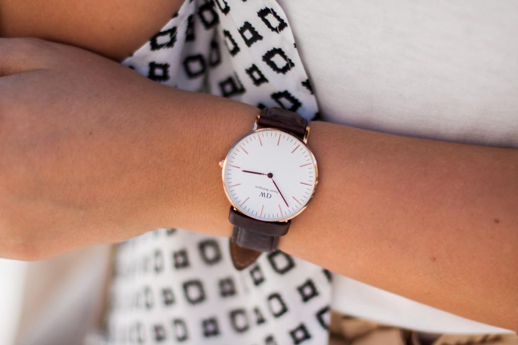 zegarek daniel wellington skóra brąz