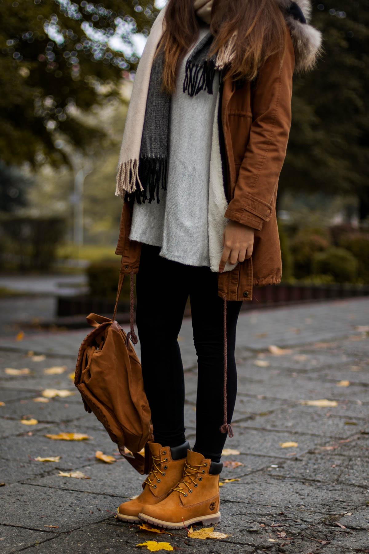 uroczy różne kolory wiele stylów Timberland - miodowe buty w stylizacji na jesień