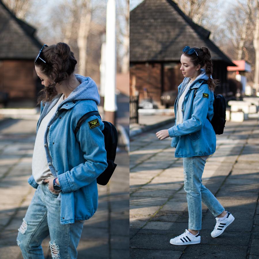 jeansowa kurtka i boyfriendy stylizacja sheinside