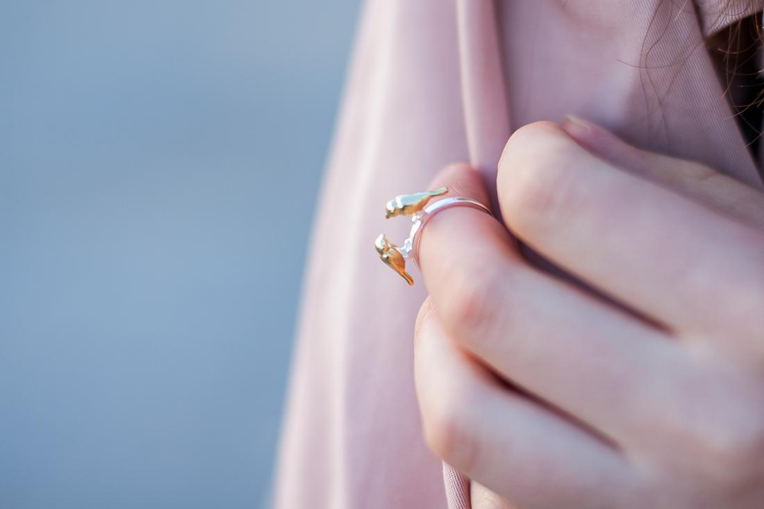 pierścionek madam lili z ptakami