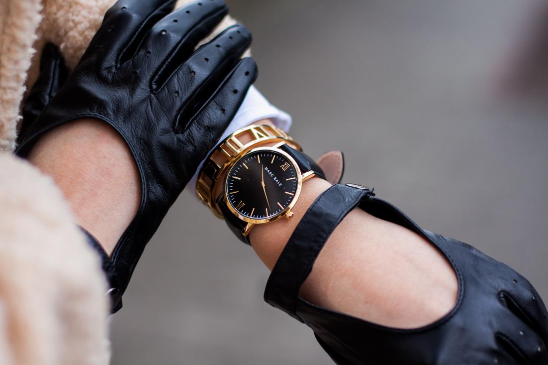 czarno złoty zegarek marc bale