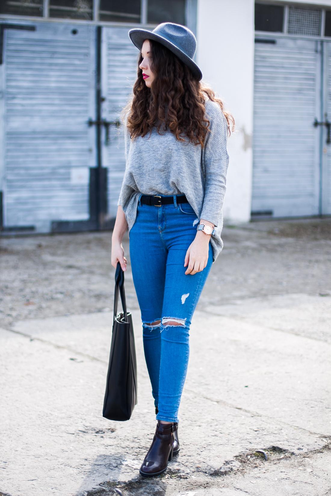 jamie topshop jeansy z dziurami