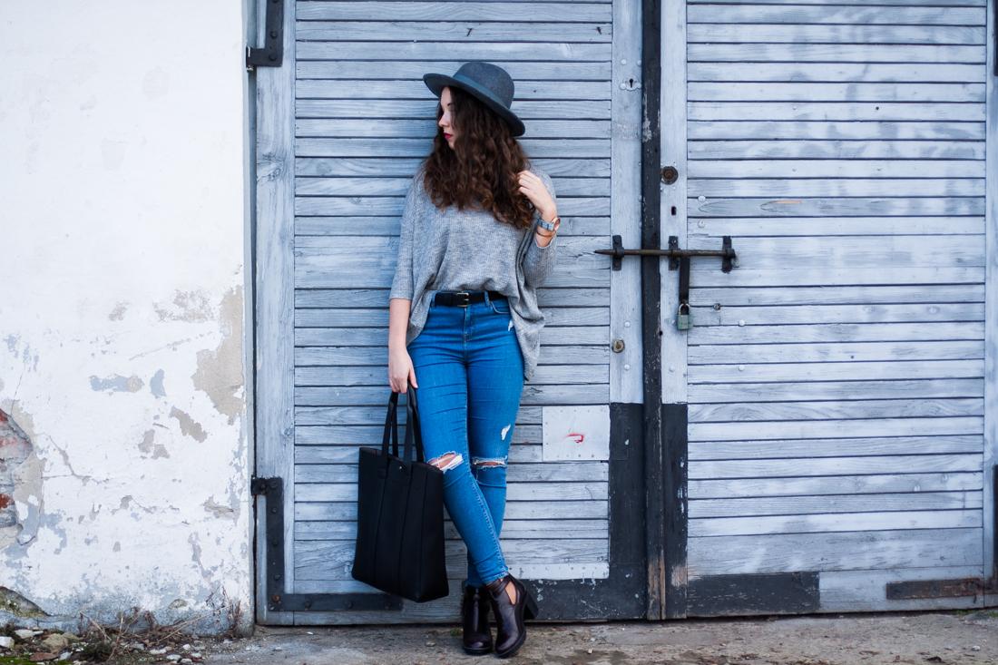 topshop jamie jeansy z dziurami