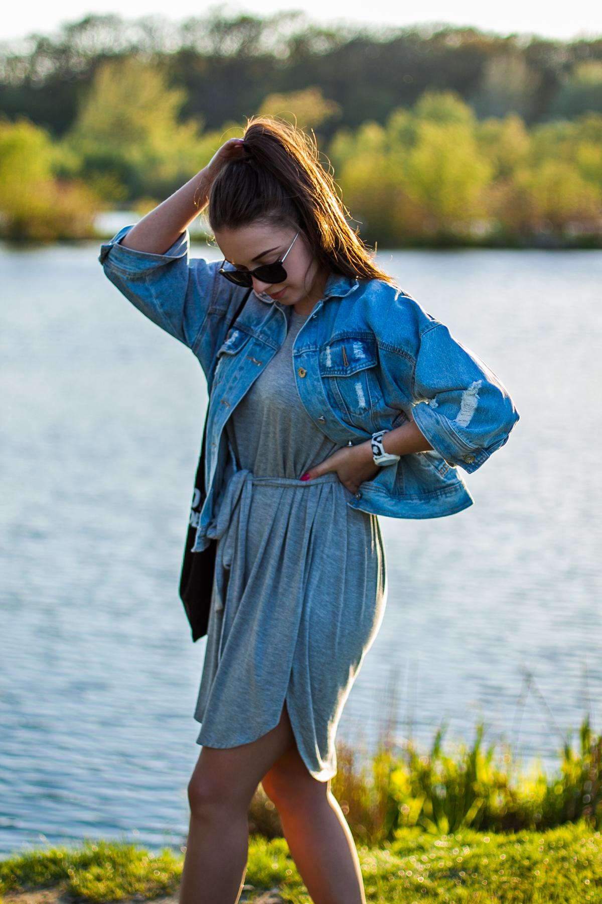 sukienka na sportowo stylizacje blog