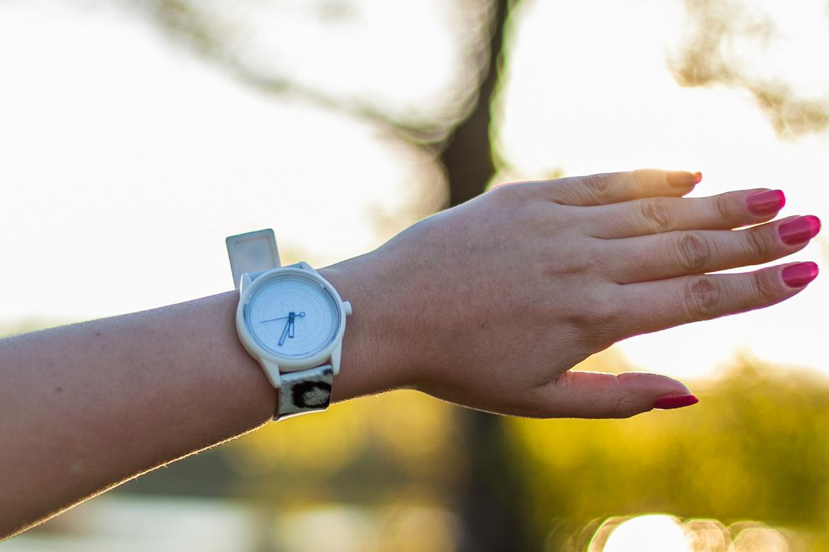 qqsmile zegarek w cętki