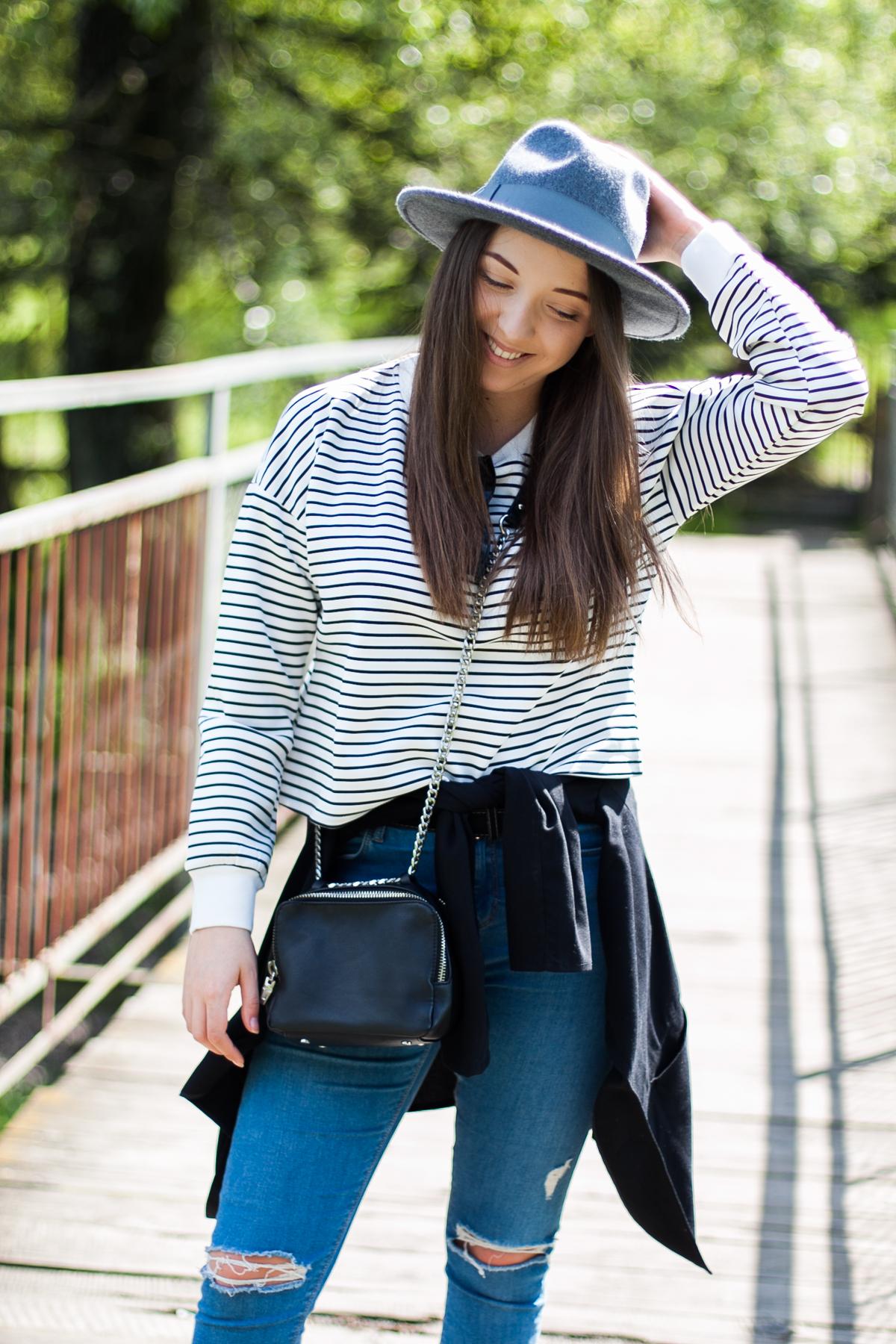 bluza w paski stylizacja blog
