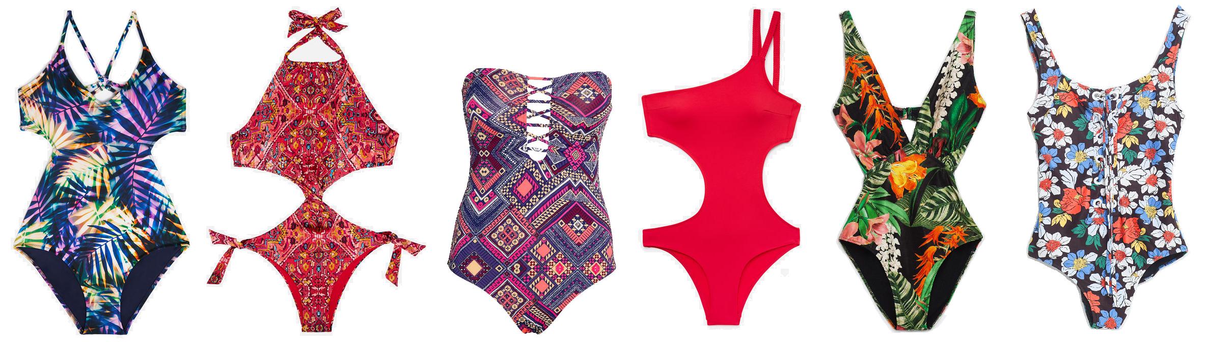 kolorowe stroje strój jednoczęściowy kąpielowy