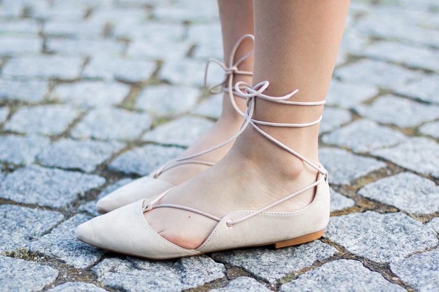 Balerinki baleriny wiązane stylizacja
