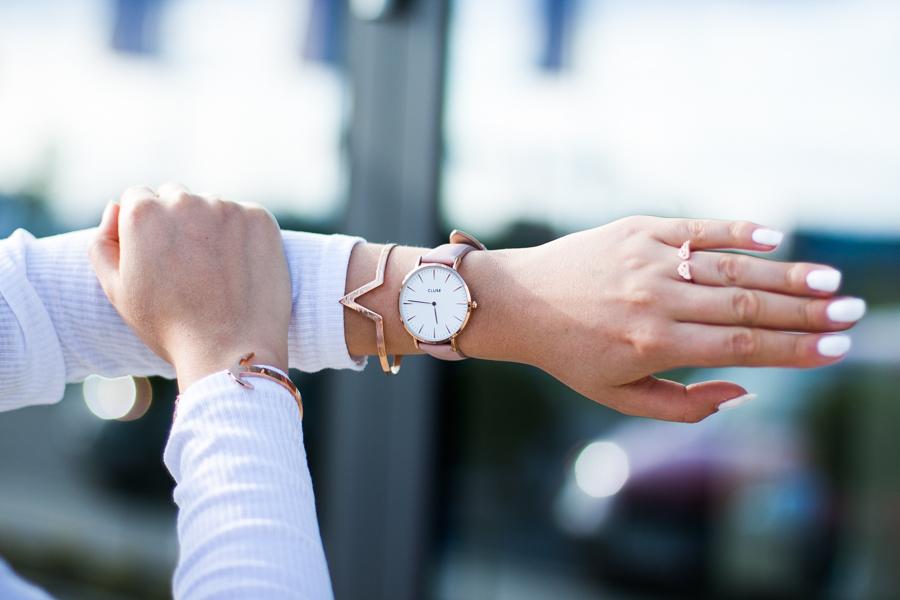 zegarek cluse pastelowy różowy