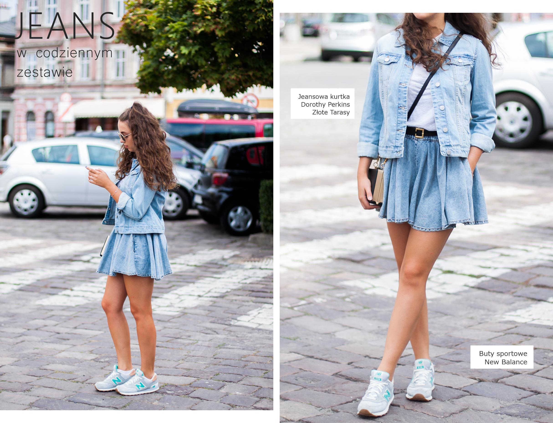 jeansowa stylizacja lato