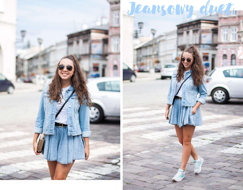 jeansowa stylizacja na lato blog