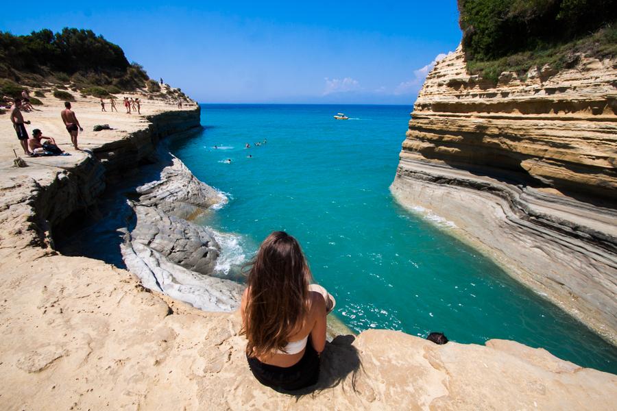 Kanał Miłości Canal D'Amour Korfu Grecja