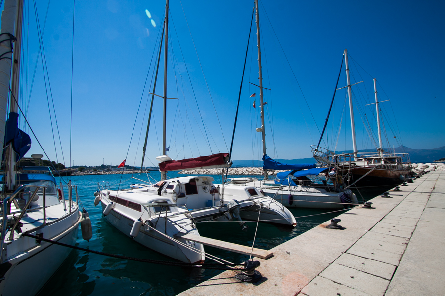 port miasto korfu grecja