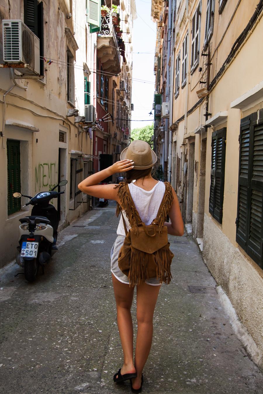 weneckie uliczki korfu grecja