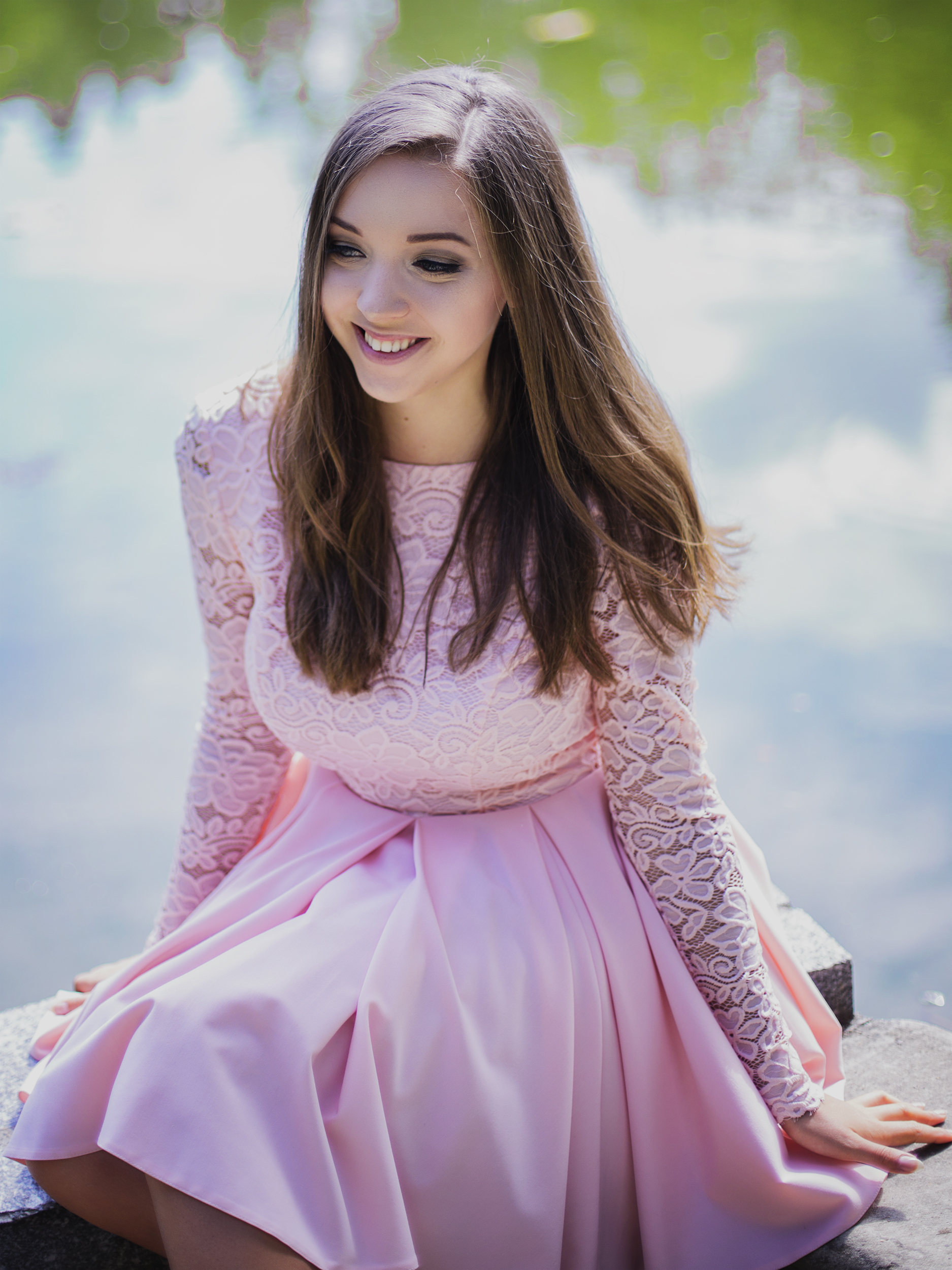 przegląd sukienek na wesele pastelowa sukienka lou