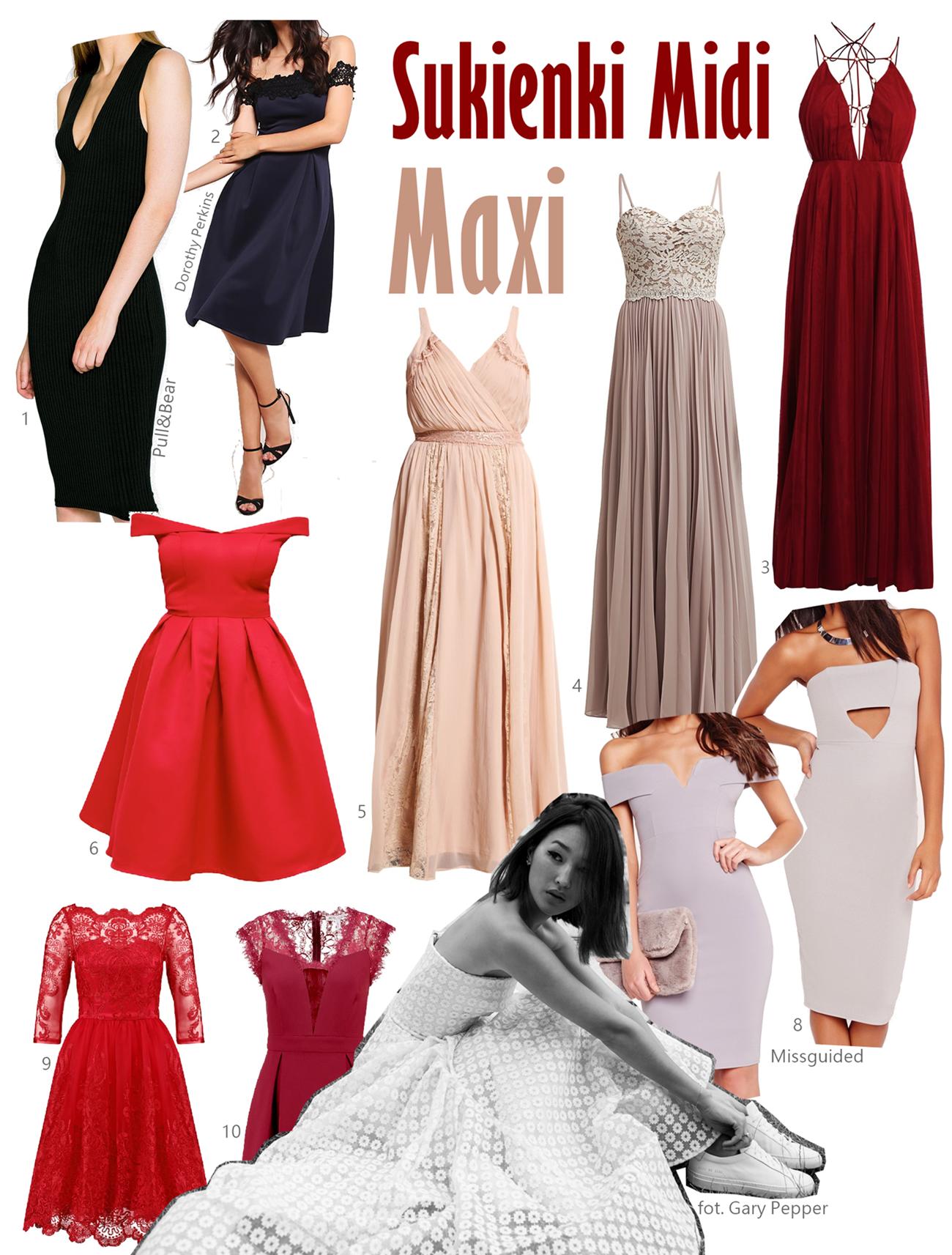 Sukienka na wesele midi maxi jaką kupić