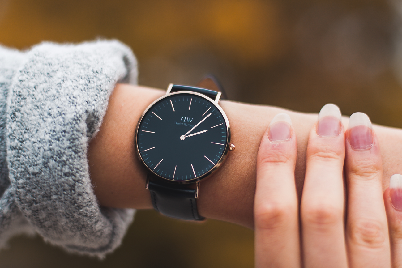 Daniel wellington black zegarek DW