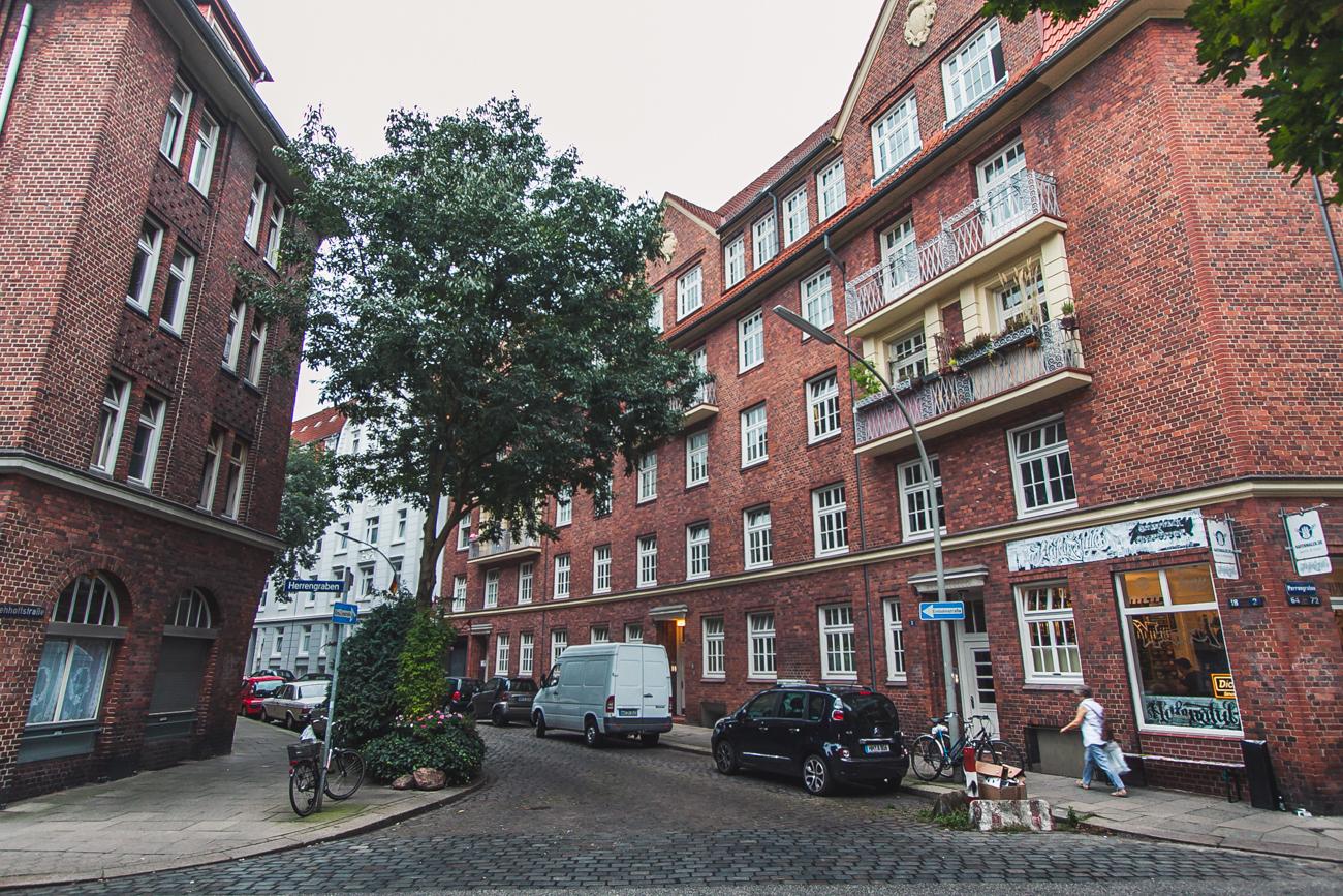 Hamburg ceglane budynki architektura