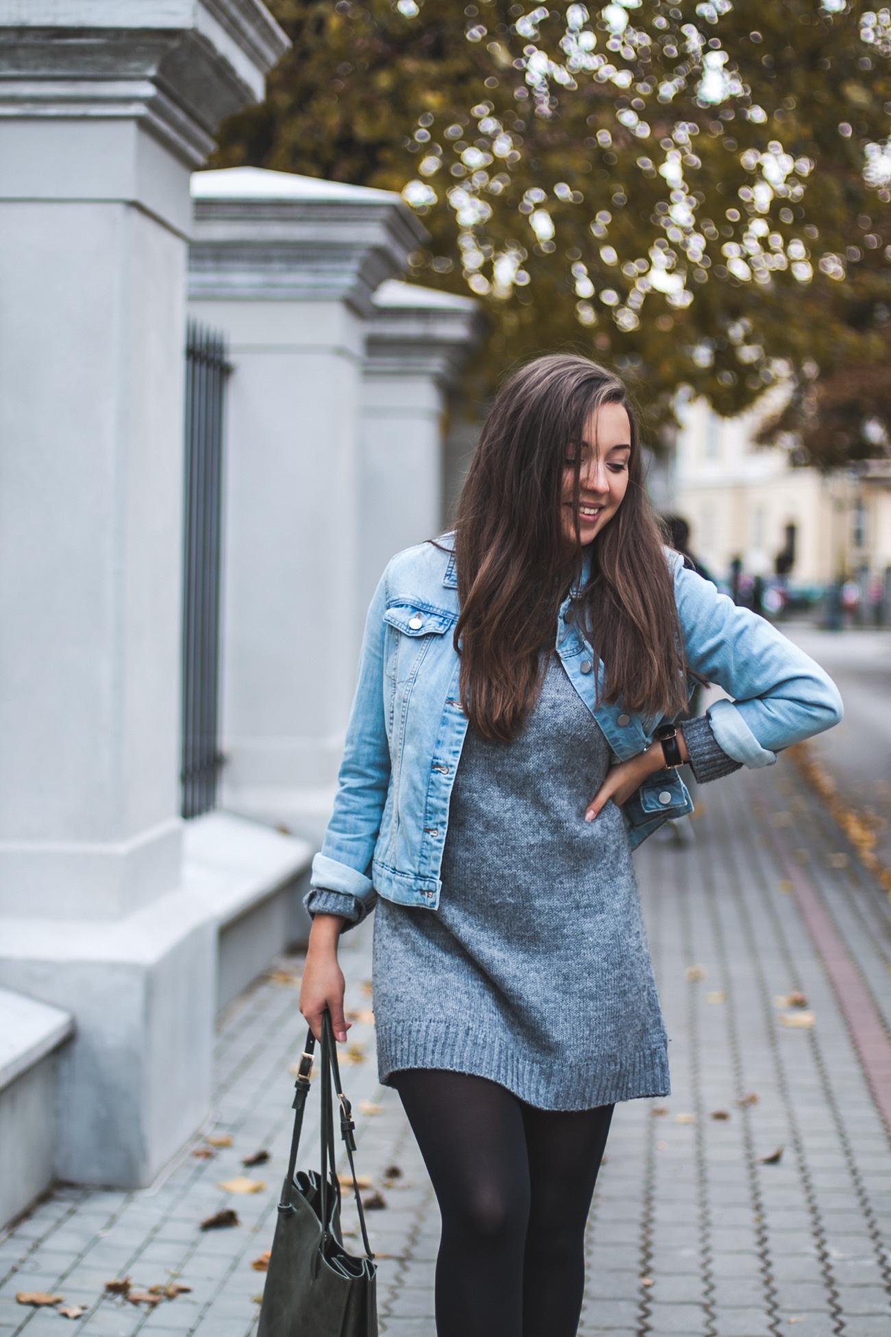 Idealny sweter na jesień h&m stylizacja