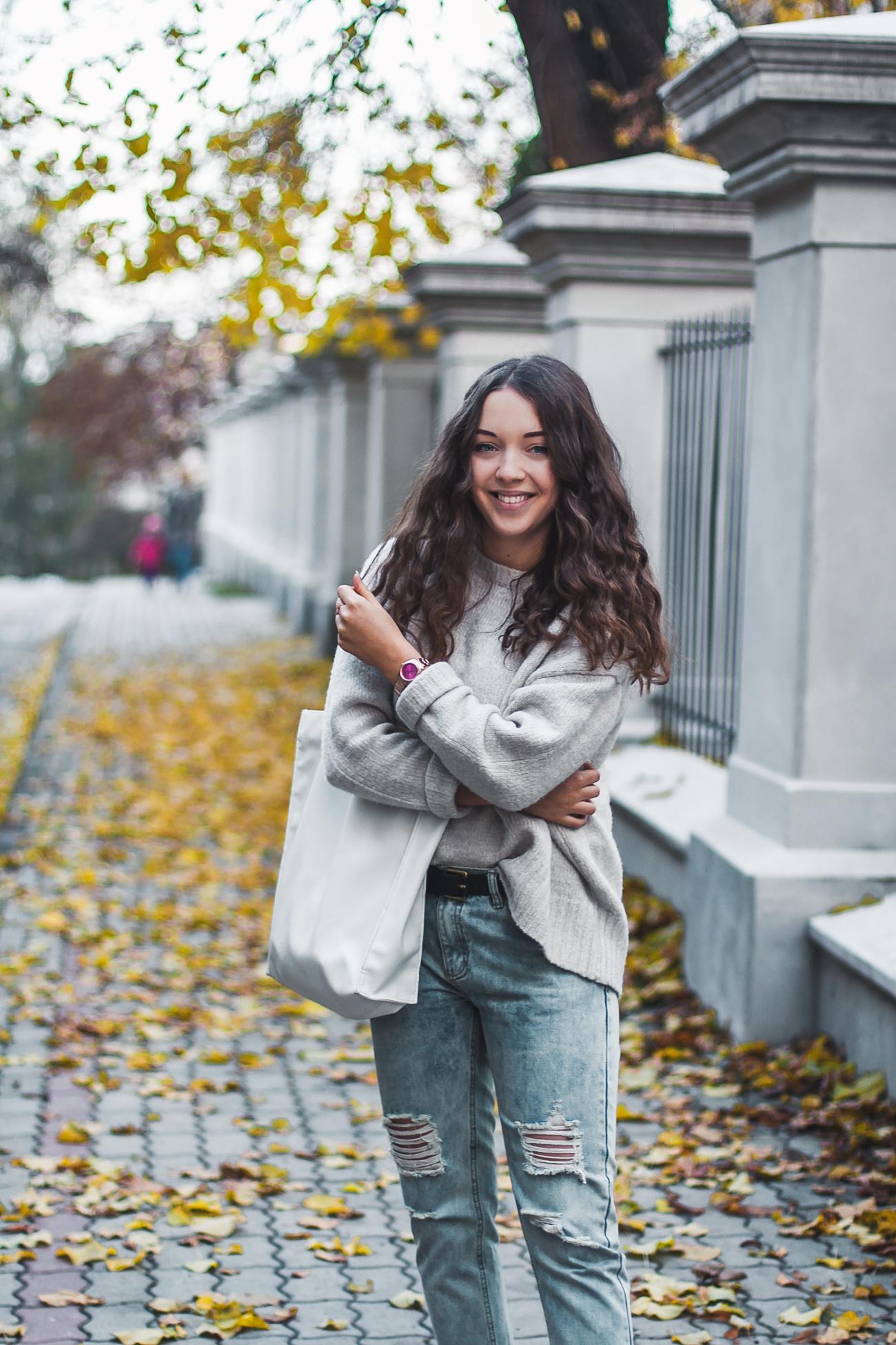 jesienny casual stylizacja jesienna