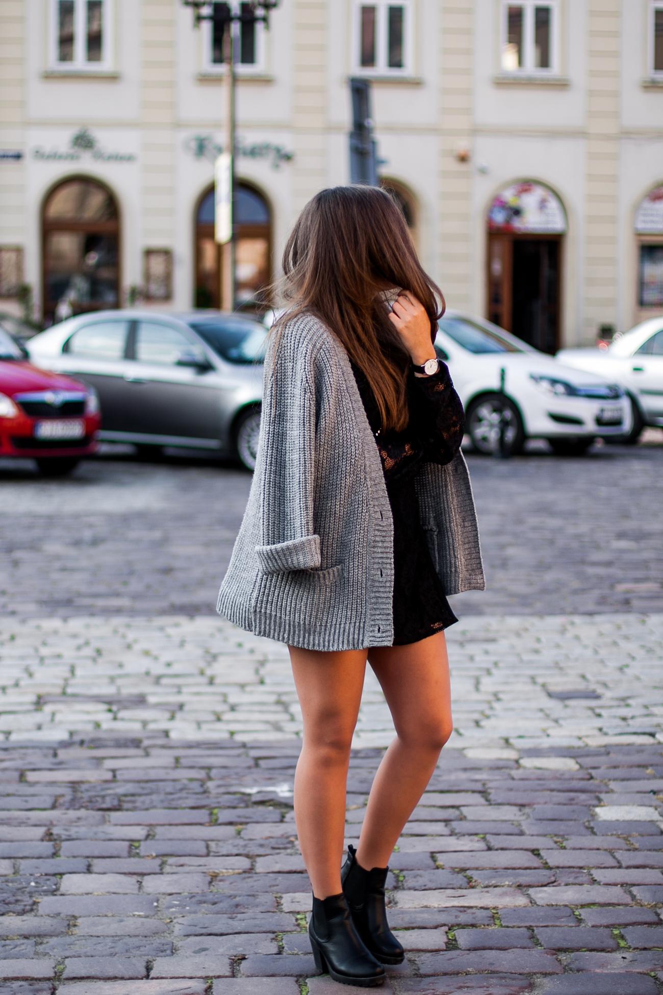 szary wełniany sweter z lumpeksu zara