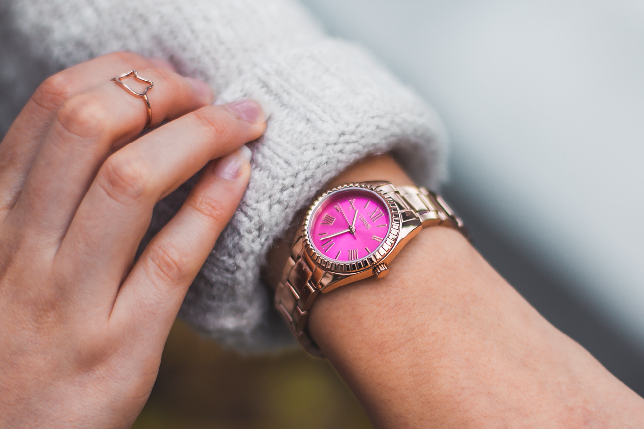 lorus różowy zegarek damski