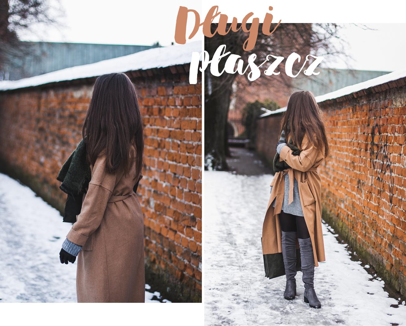 długi płaszcz na zimę