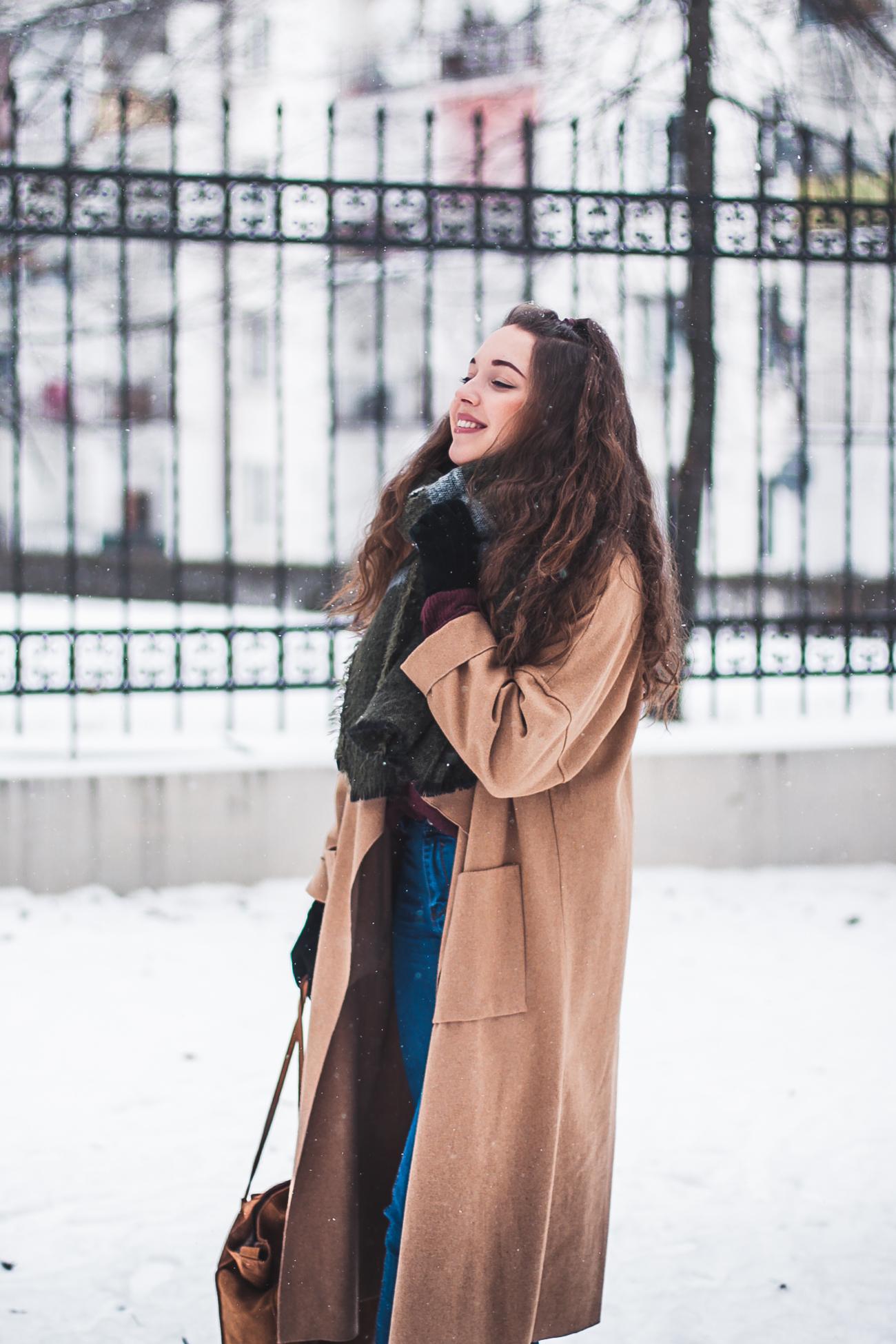 Płaszcz na zimę stylizacja blog