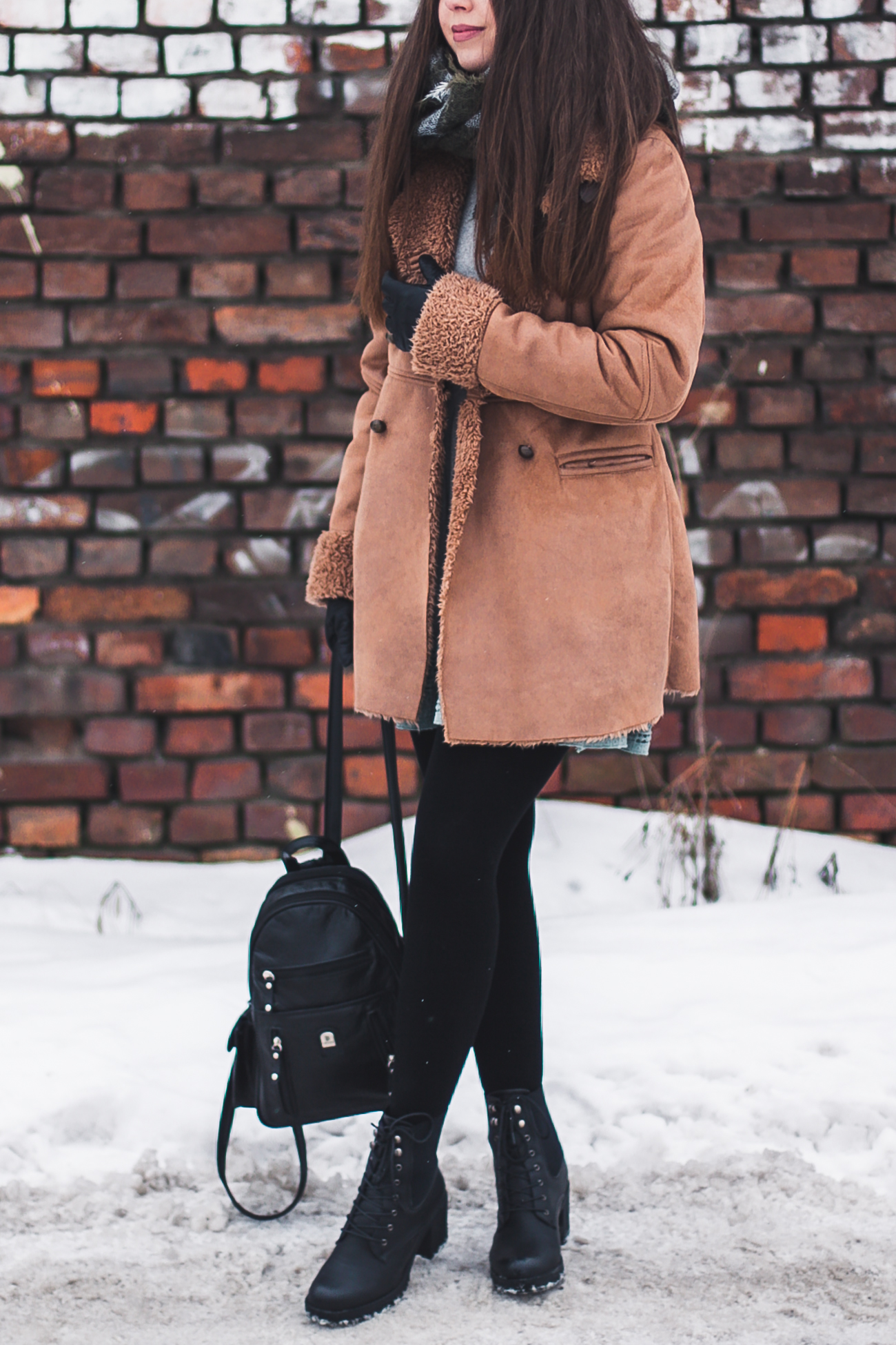 płaszcz zimowy i botki deezee