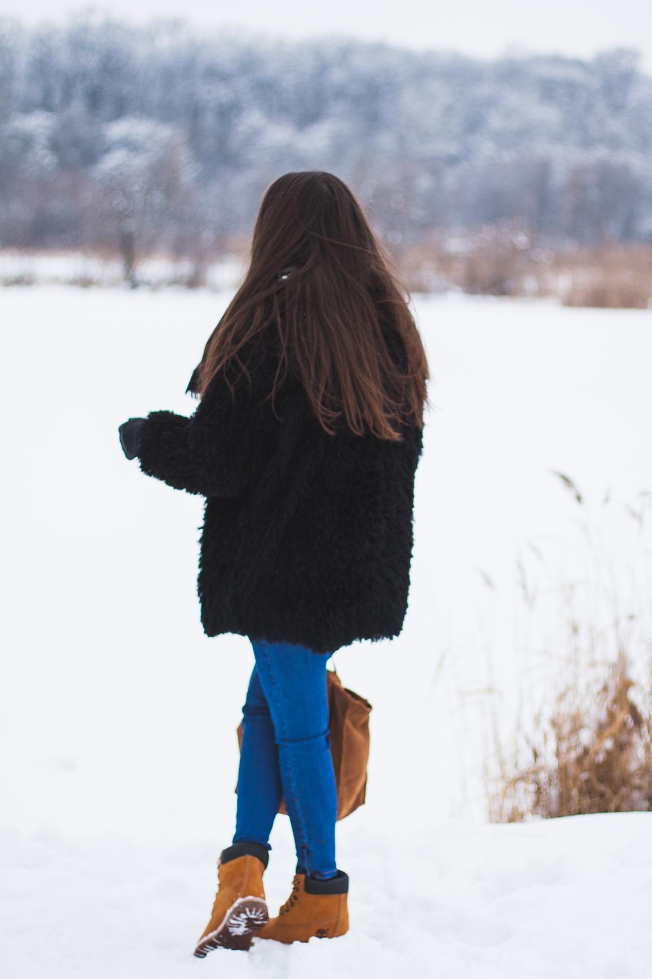 zimowe timberlandy stylizacja