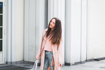 wiosenny płaszcz stylizacja blog modowy