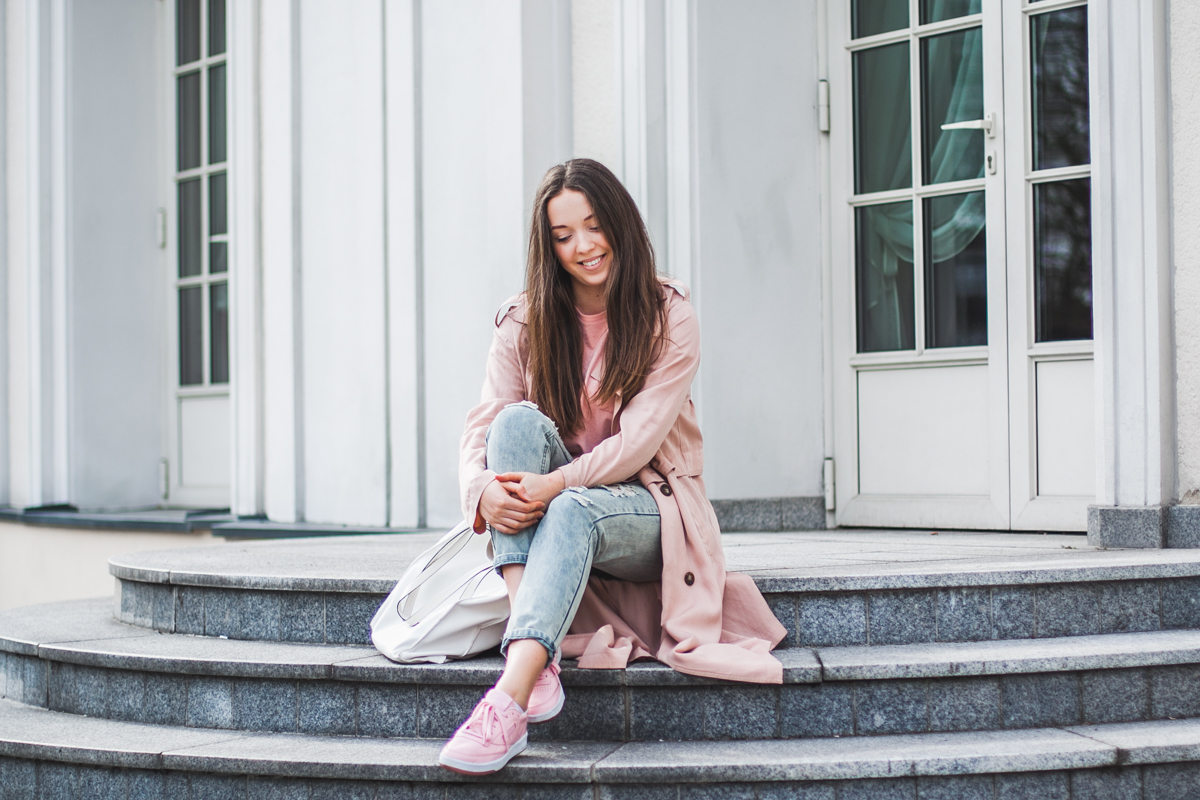 buty reebok club c 85 różowe