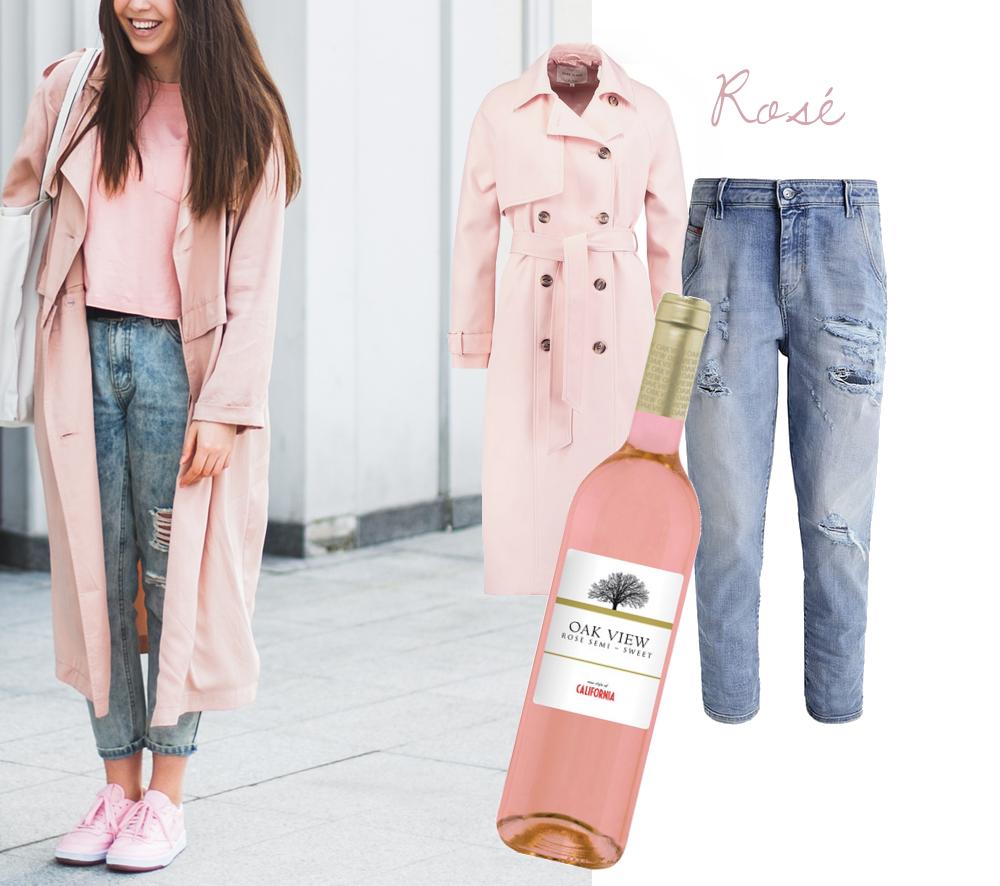 różowe wino półsłodkie oakview