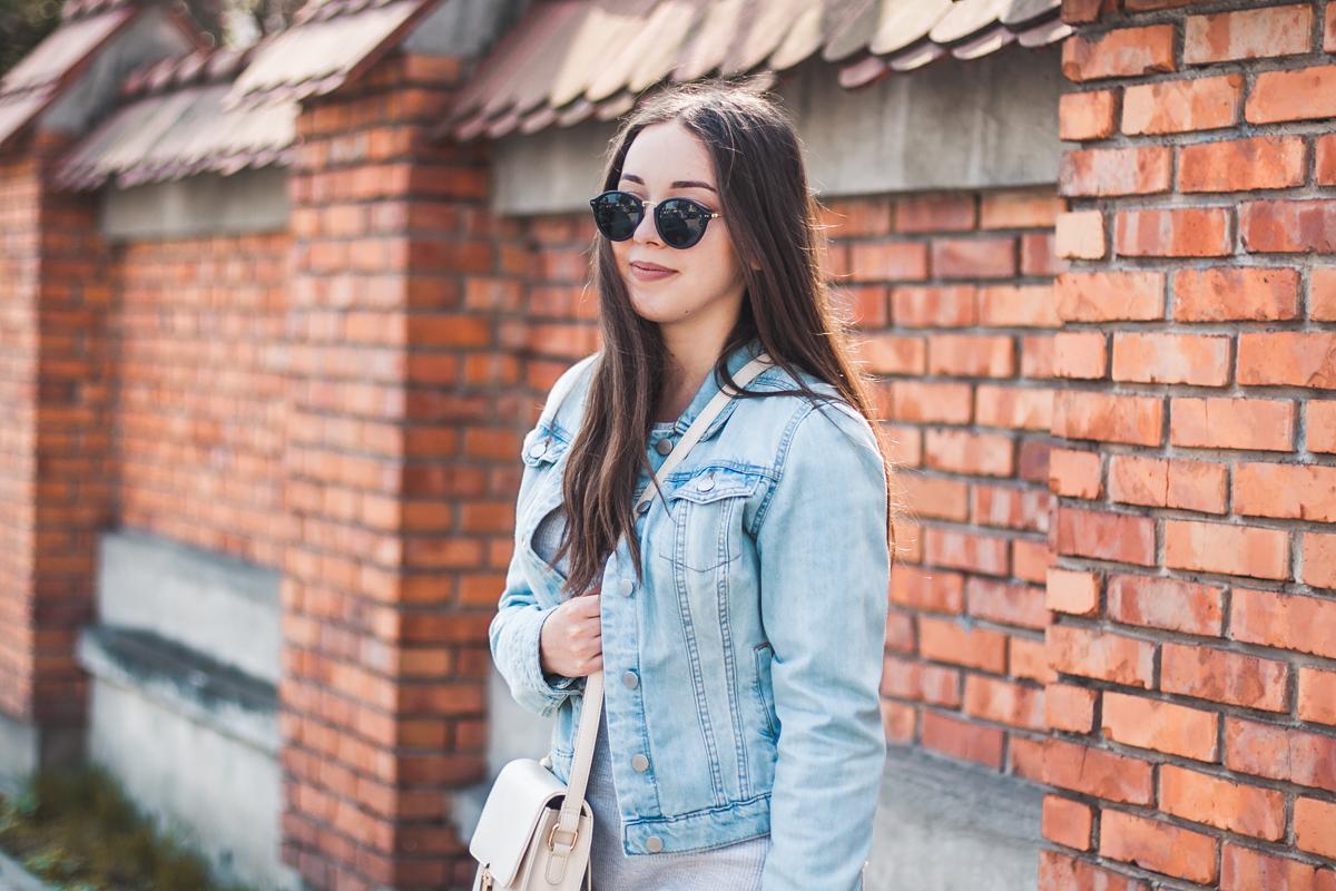jeansowa kurtka blog stylizacja