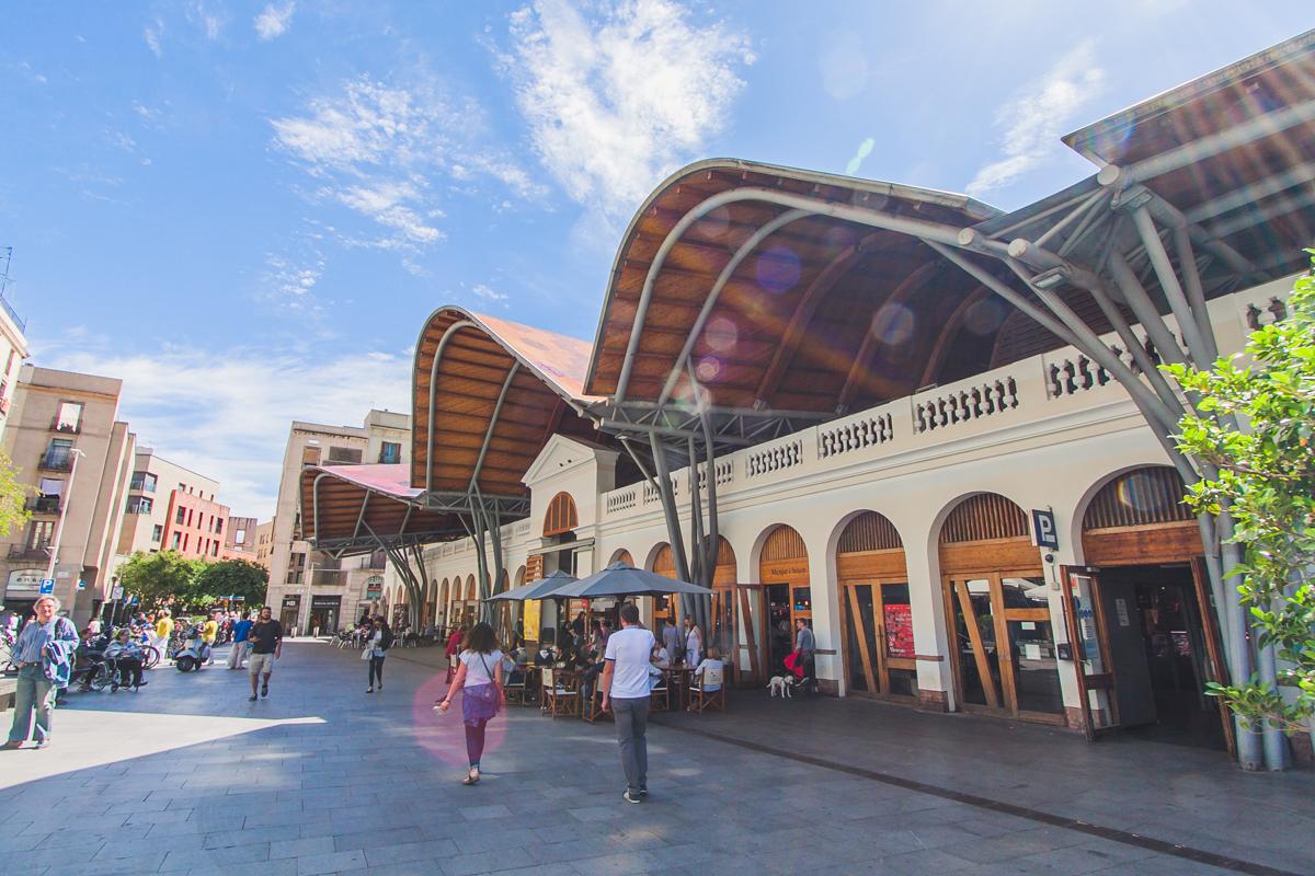 Mercado de Santa Caterina Barcelona targ