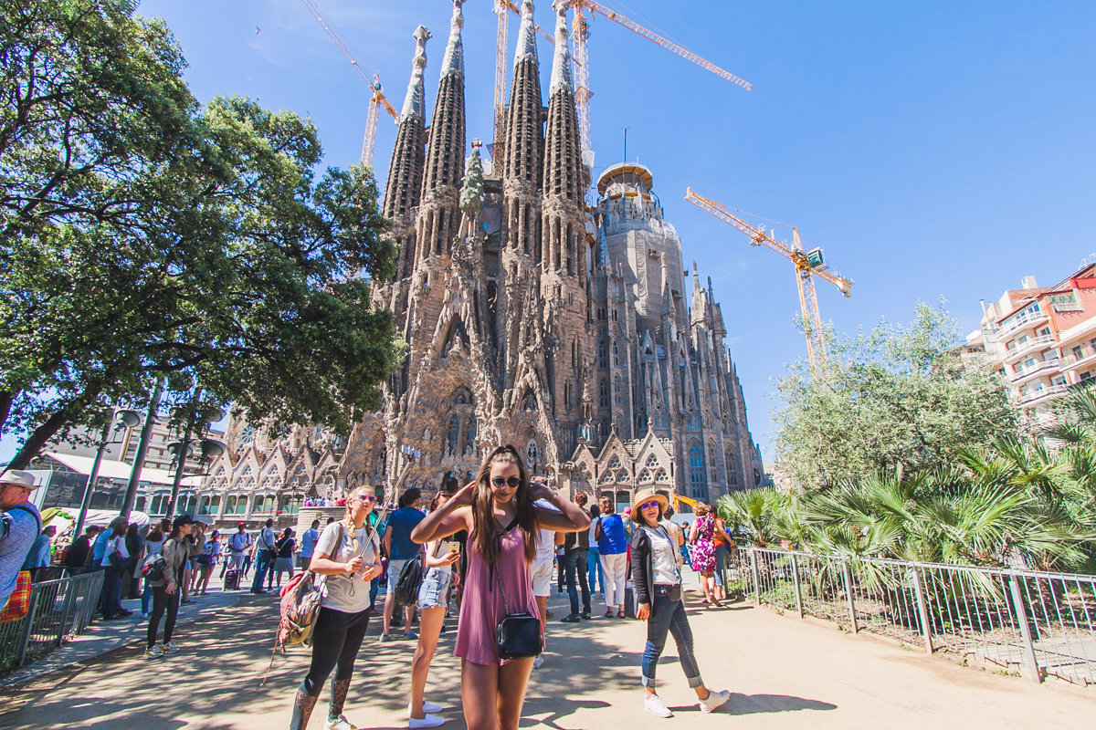 Sagrada Família kościół w Barcelonie