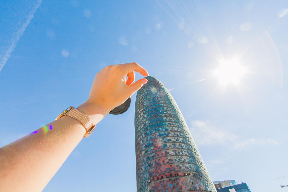 Torre Agbar barcelona ogórek