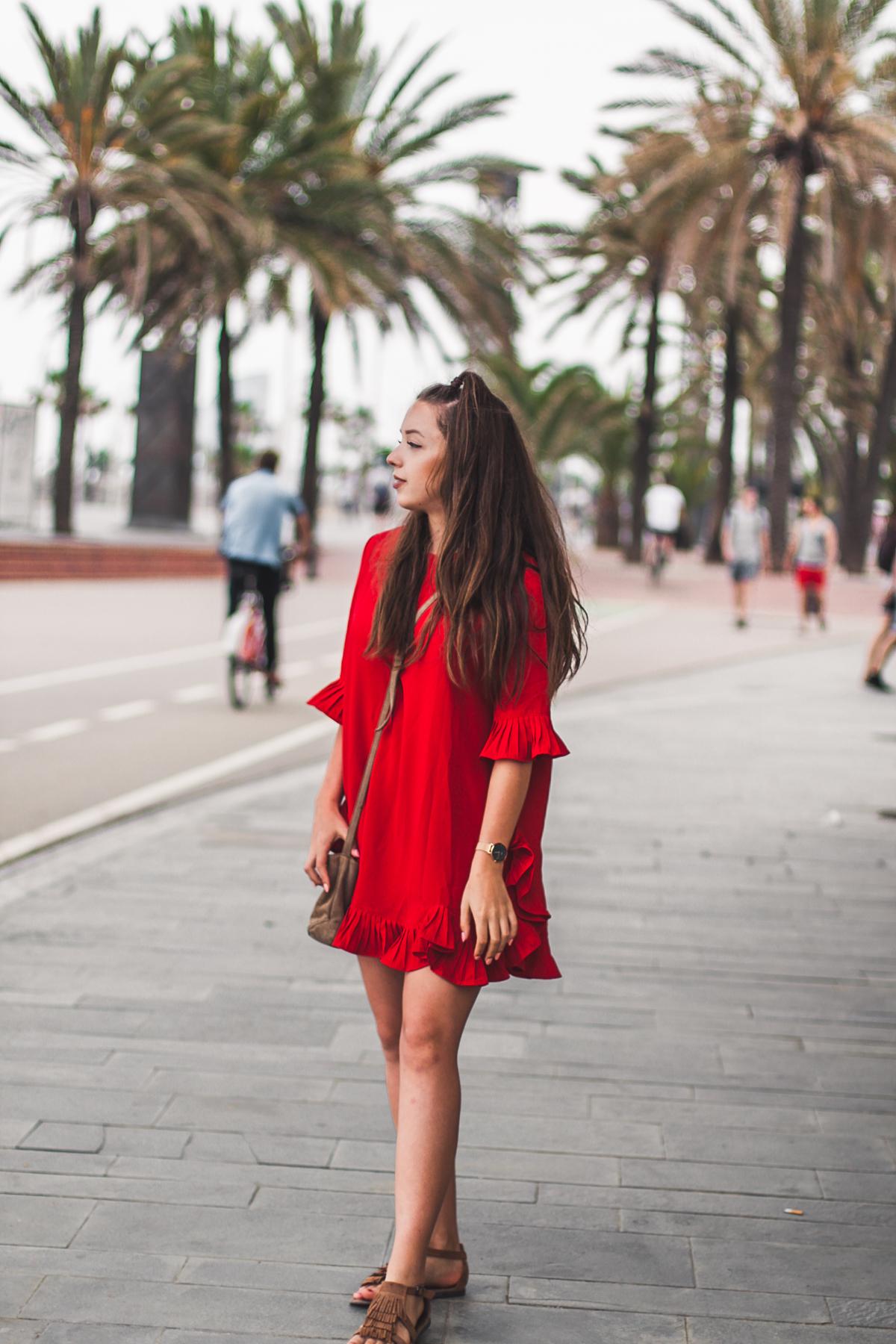 wesele czerwona sukienka