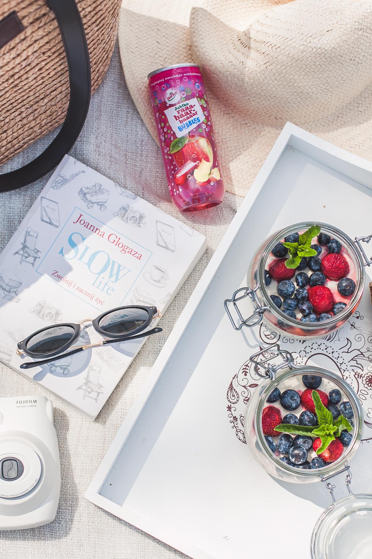 Piknik na plaży rzeszów pudding chia