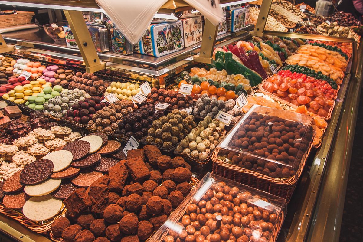 La Boqueria barcelona słodycze trufle